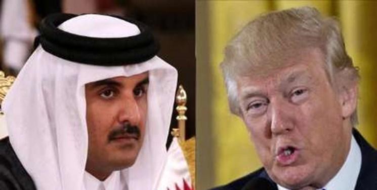 تماس تلفنی امیر قطر با ترامپ درباره اوضاع منطقه