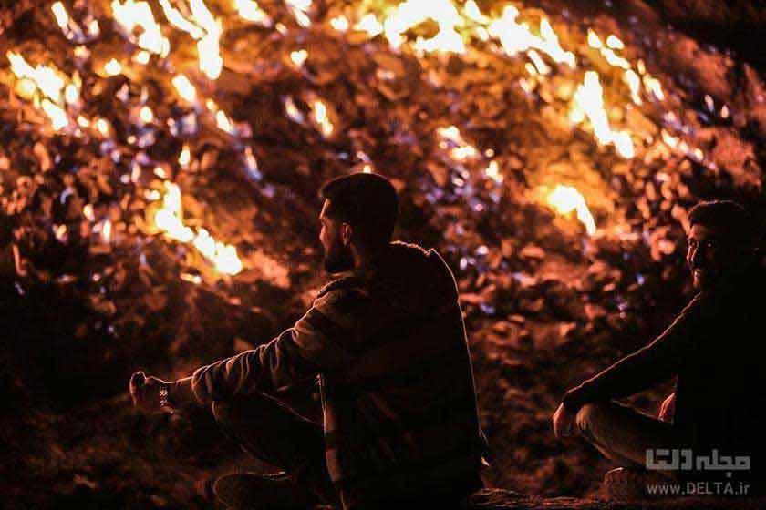 داستان کوهی که شعله ور است(