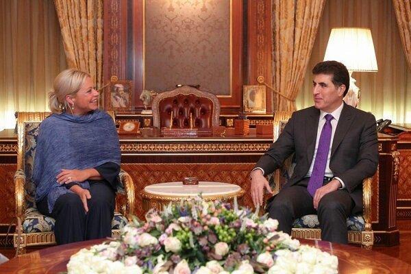 رایزنی بارزانی با نماینده دبیر کل سازمان ملل در امور عراق