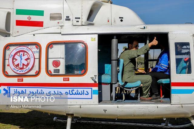 انتقال هوایی نوزاد یک روزه خوزستانی دچار تنگی نفس
