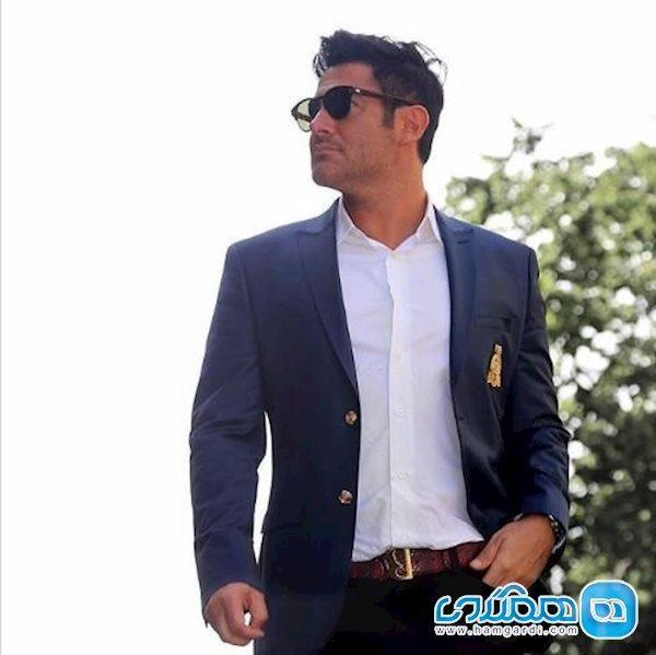 محمدرضا گلزار در ژست یک مدل