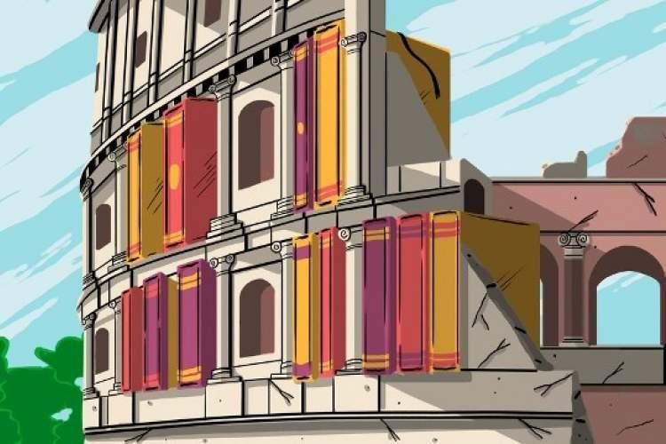 کتابفروشی مرجع انگلیسی زبان ها در شهر ایتالیایی