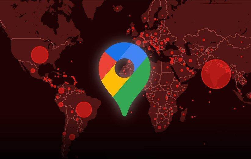 لایه میزان شیوع کرونا به گوگل مپ افزوده می گردد