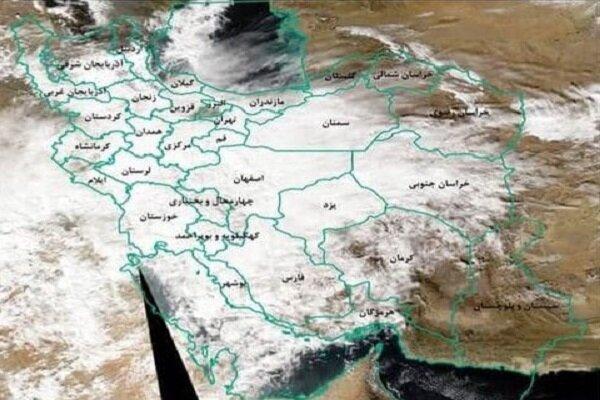 نقشه ماهواره ای بارندگی در کشور منتشر شد، حداکثر بارش در 6 استان