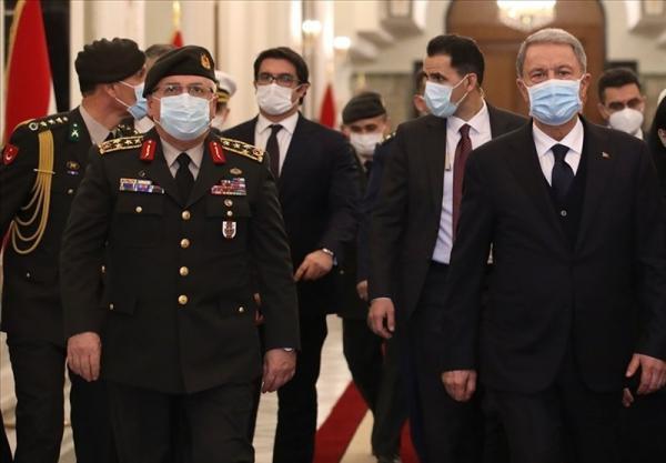 گزارش، محورهای گفت وگوی وزیر دفاع ترکیه در سفر به بغداد و اربیل