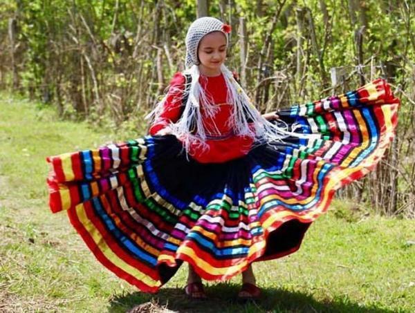 انواع مدل لباس محلی مازندرانی بچه گانه