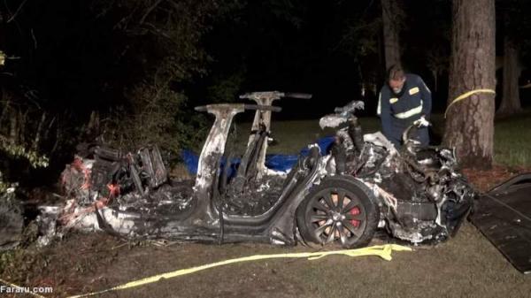 (ویدئو) تصادف مرگبار خودروی بدون راننده تسلا با درخت!