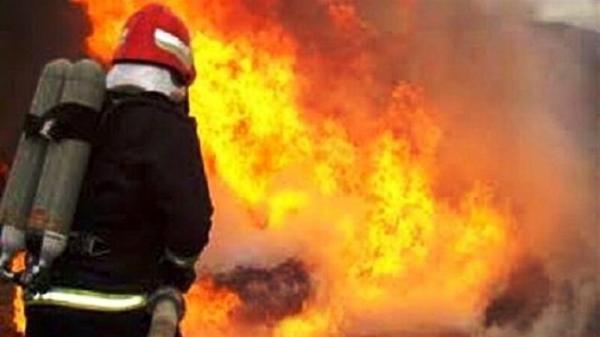 آتش سوزی در باغات روستای الولک